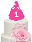 Princess Belle Cake Acrylic Topper with Age 1, 2, 3, 4, 5, 6, 7, 8, 9, 10 etc